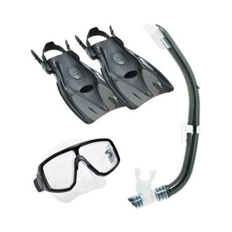 Cestovní set  maska, šnorchl, ploutve TUSA