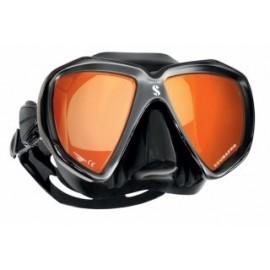 Maska Scubapro SPECTRA Mirrored černá/stříbrná   zrcadlová skla