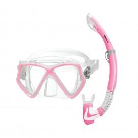 Šnorchlovací  SET Combo PIRATE Mares pro děti růžový