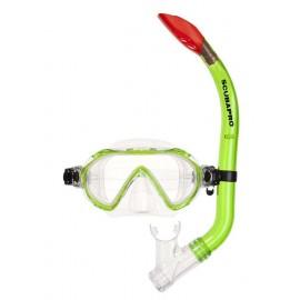 Maska a šnorchl SET Spider COMBO - Dětské - Zelená