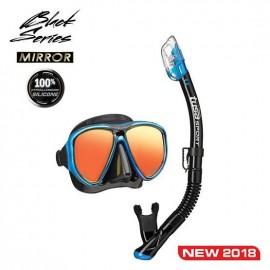 Set maska a šnorchl TUSA Powerview Adult Dry Combo (zrcadlový zorník) modrý