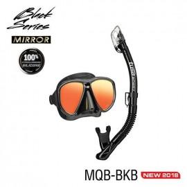 Set maska a šnorchl TUSA Powerview Adult Dry Combo (zrcadlový zorník) černý
