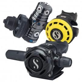 Automatika Scubapro MK25 EVO DIN 300/A700 Carbon Black Tech SET s  octopusem R195