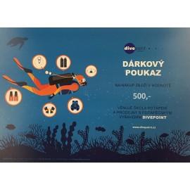 Dárkový certifikát na odběr zboží - 500 Kč