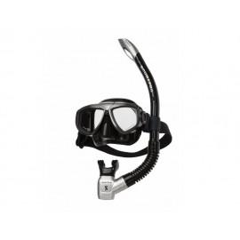 Set maska + šnorchl Scubapro ZOOM Combo černá/černá-stříbrná