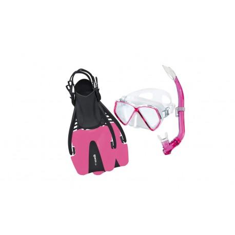 Cestovní set  maska, šnorchl, ploutve mares Pirate Coral