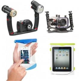 Podvodní kamery , Obaly na mobilní telefony, Fotoaparáty , Světla